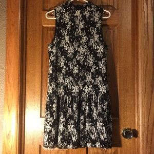 Charles Henry Medium Black and white floral dress